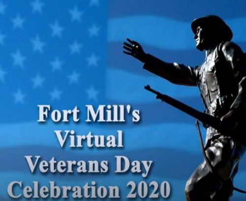 Veterans Day Virtual Ceremony graphic- 11-20